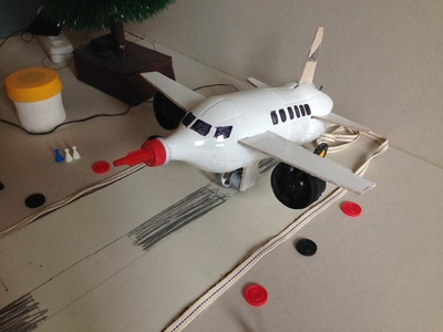 How to Make an Airplane From a Coca Cola Bottle with Motor at Home