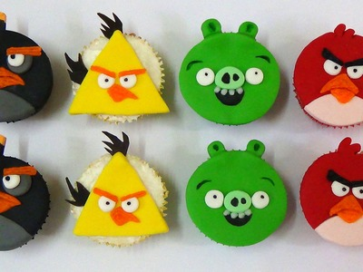 How to make angry birds cupcakes