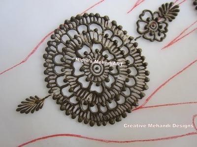 How to Make Easy Circular Round Henna Mehndi Design Tutorial