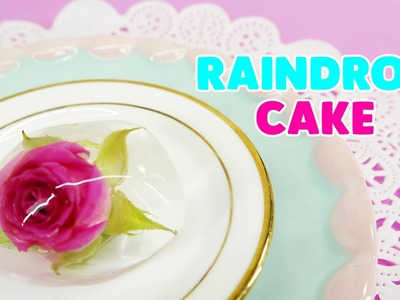 How to make Edible Flower Water Cake - RAINDROP CAKE (Edible Ooho)