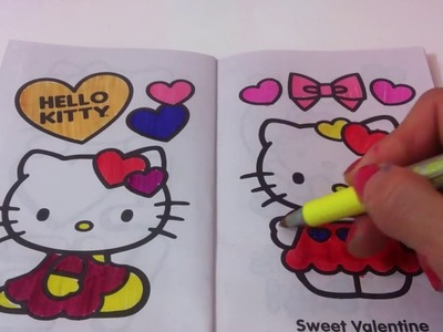 How to make HELLO  KITTY coloring book