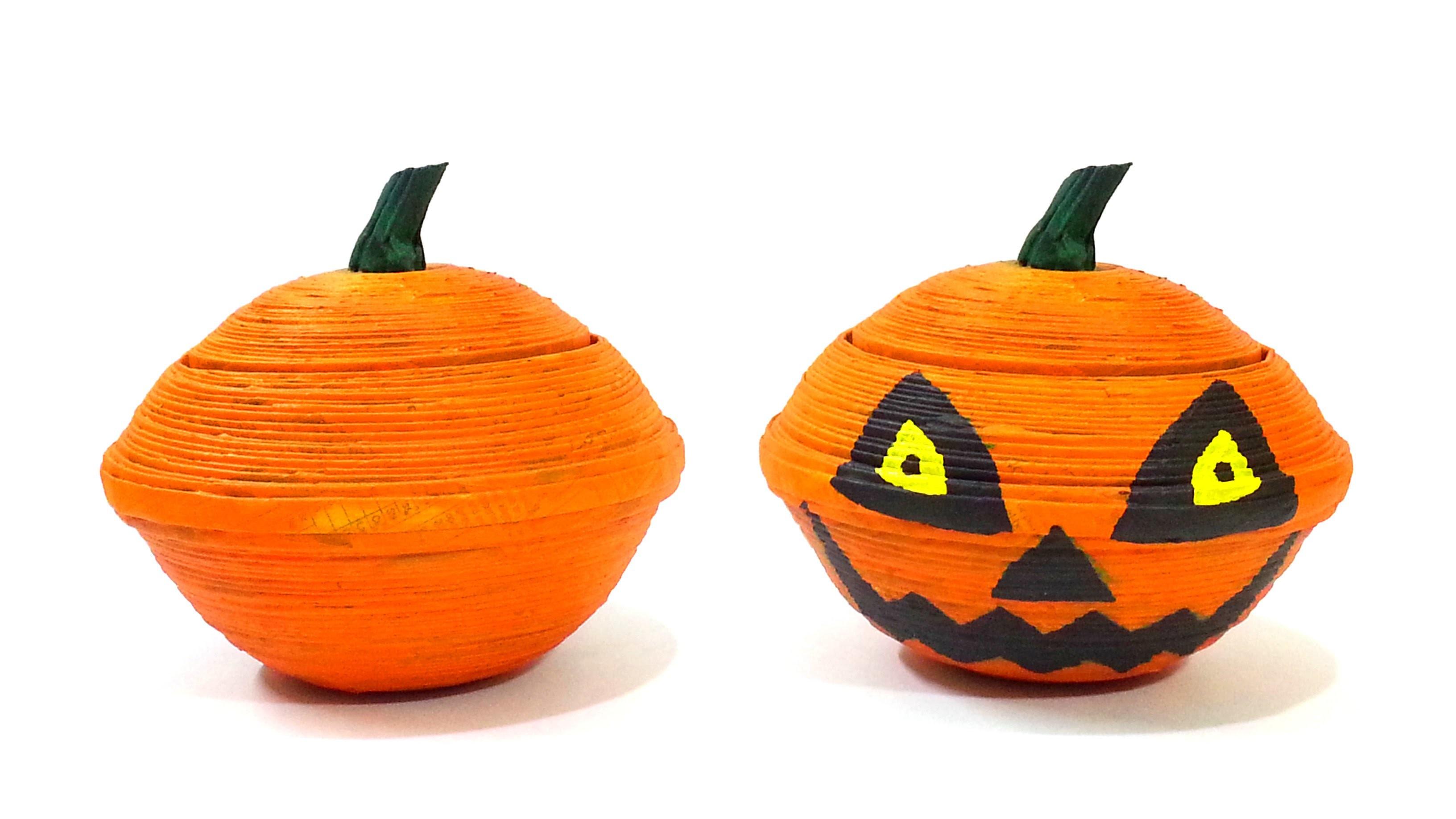 How to make jack o lantern pumpkin box