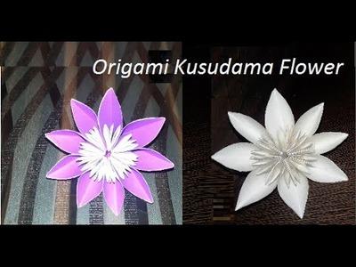 Kusudama diy flower ball aka japanese kusudama flower diy how to make paper flowers origami kusudama flower mightylinksfo