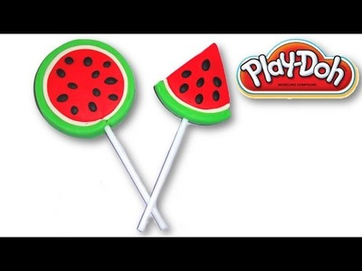 How To Make Play Doh Watermelon Lollipops
