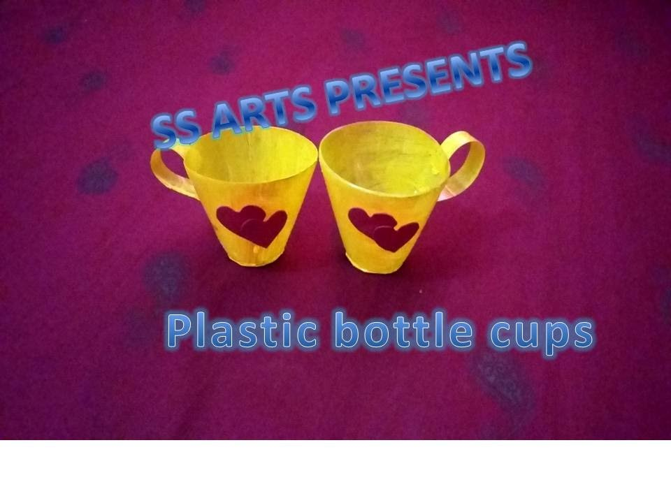 How to make Tea cups with Plastic Bottle