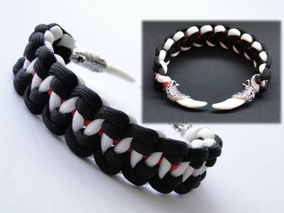 "How to Make ""Wolves Teeth"" Paracord Survival Bracelet-Inspired by Bullet Casing Paracord Bracelet"