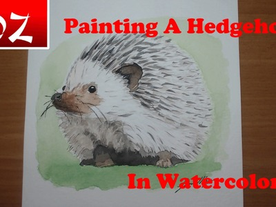 How To Paint a Hedgehog in watercolor