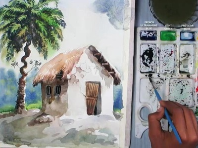 How to Paint A Primitive House in Watercolor