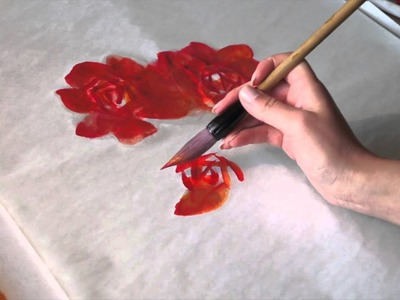 How to paint Red Roses in Five Minutes!
