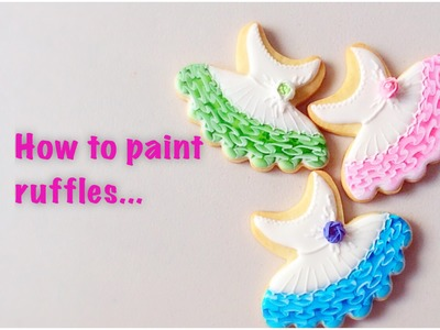 How to paint ruffles. One stroke technique. My little bakery.