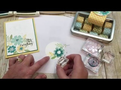 How to stamp a simple floral card with a matching tin of chocolates!