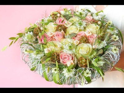 Modern bridal bouquet | How to make | Arend Roses