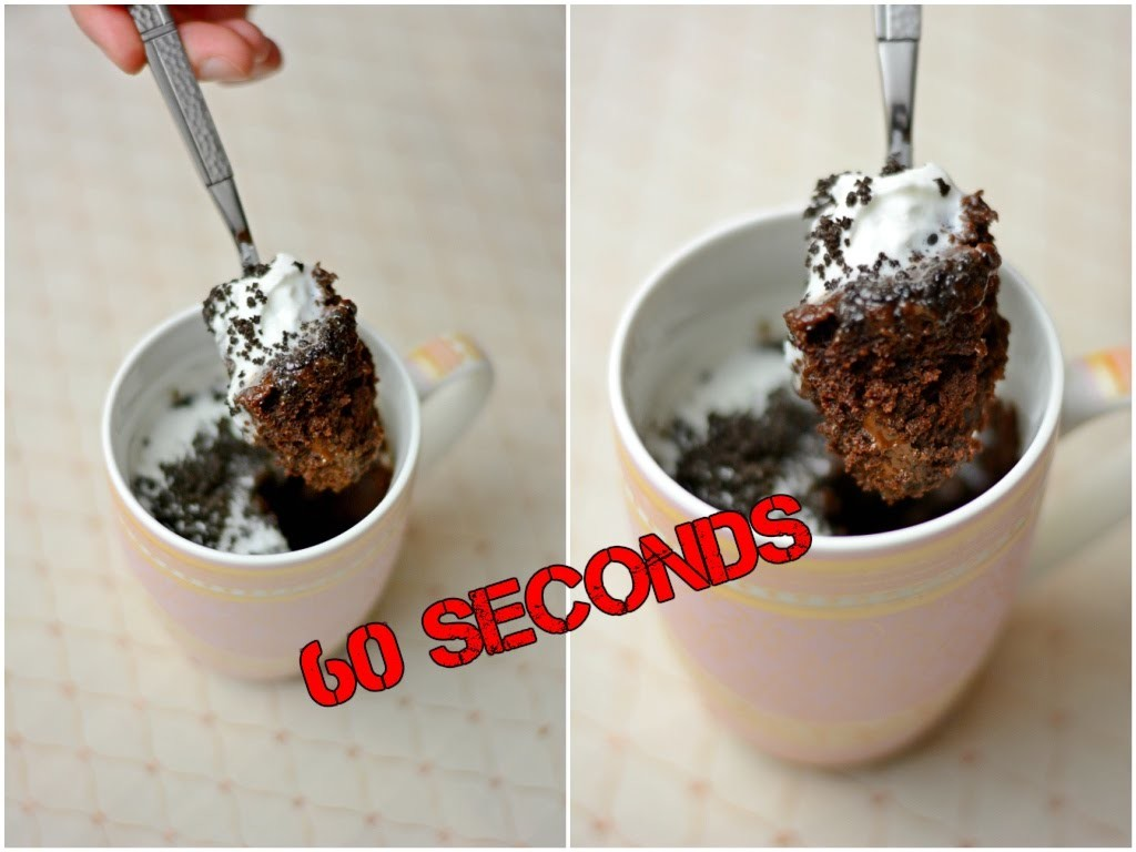 No Bake Eggless Chocolate Mug Cake. How to make Mug Cake in 1 minute. Simple Easy Dessert Recipes
