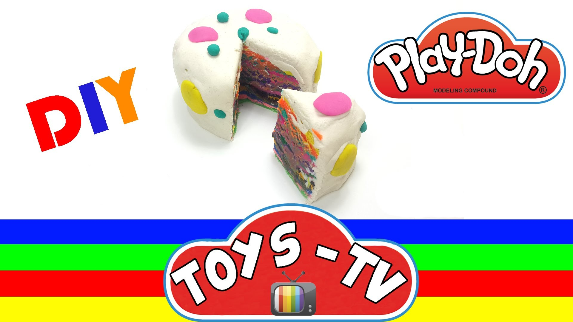 Play doh Rainbow Cake How to Make Play doh Rainbow Cake