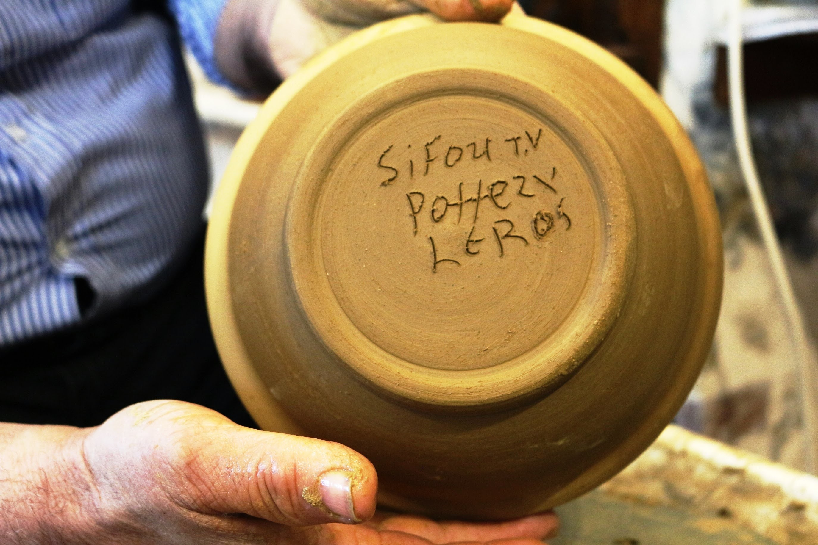 Pottery Trimming a Bowl - How to Trim a Clay Bowl with Sifoutv Pottery #59