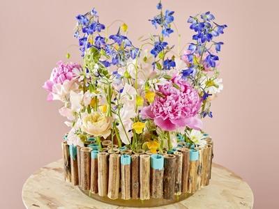 Summer flower arrangement how to make tutorial