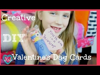 2 DIY Valentine's Day Cards | how to make valentines day cards boys & girls | JazzyGirlStuff