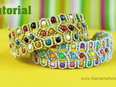 Beaded Bracelet Tutorial   Macrame School