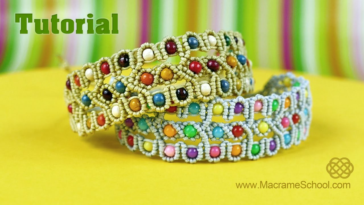 Beaded Bracelet Tutorial | Macrame School