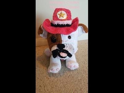 Crochet Amigurumi Bulldog Accessories Hats and Collar DIY Tutorial