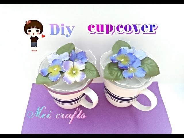 Diy: altered shabby chic cup cover