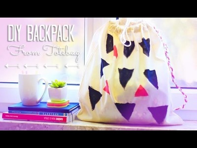DIY Backpack From Totebag | Upcycling | Back To School & Holiday Gift Ideas
