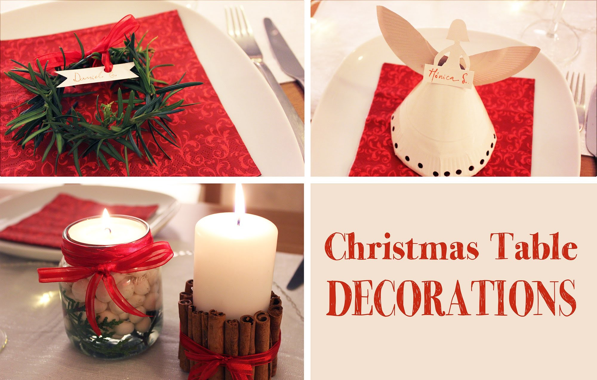 DIY | Christmas Table Decorations