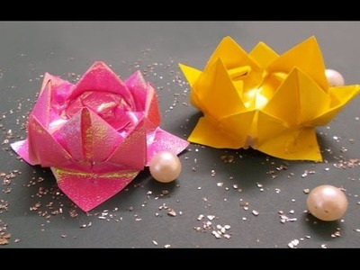 DIY Crafts : Origami Lotus Tutorial | Origami Flowers | Paper Crafts