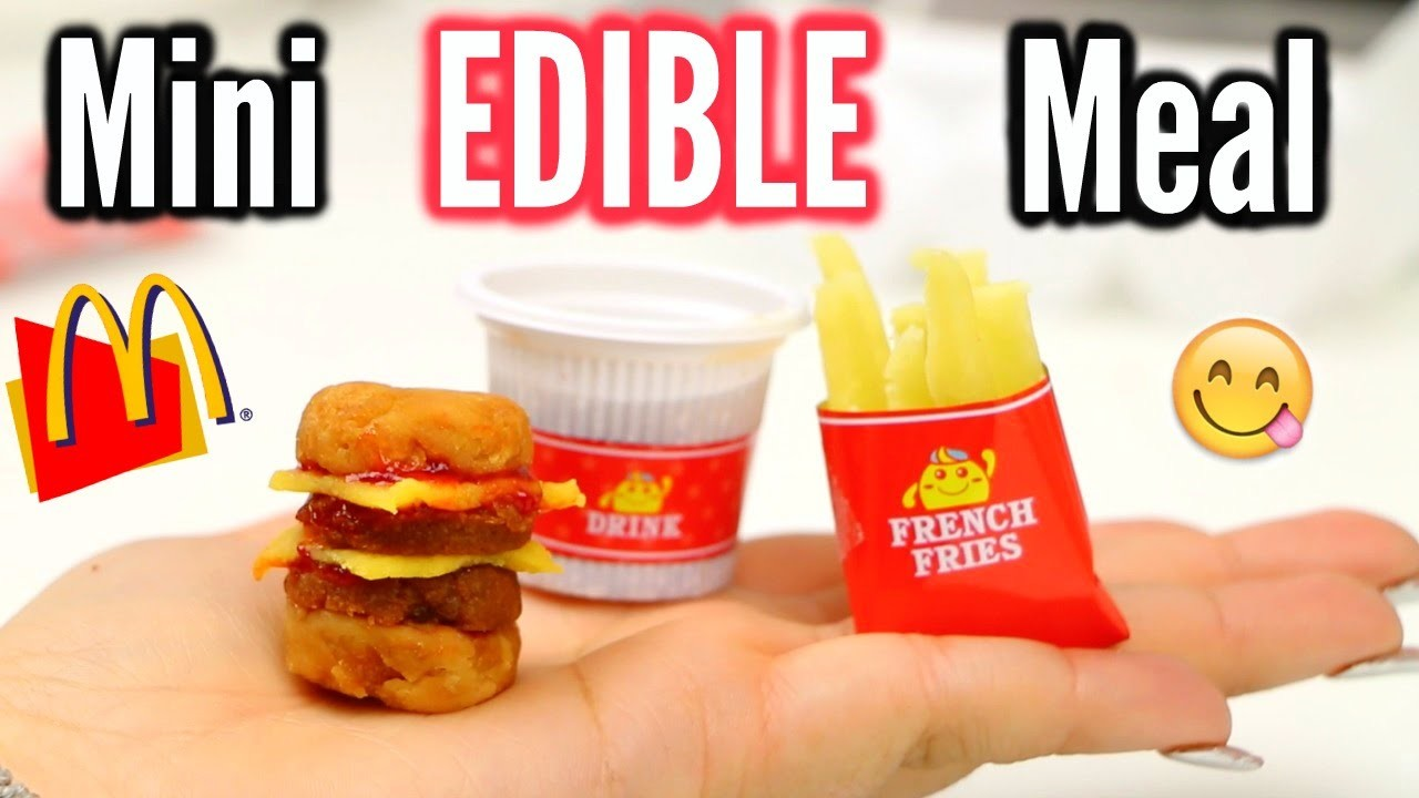 DIY Edible Mini Cheeseburger Meal! Popin Cookin! Taste test!
