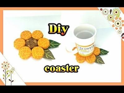 Diy: flower shaped  coaster