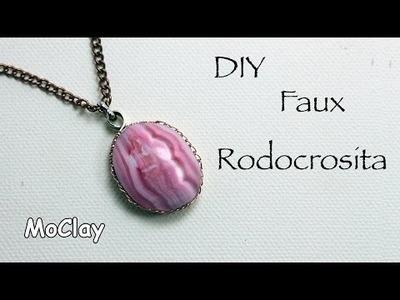 DIY - How to make a false semi precious stone : rhodochrosite