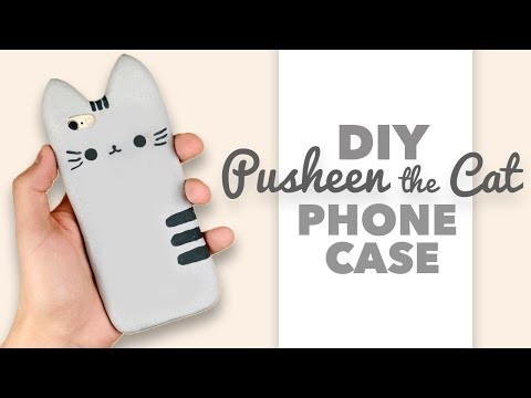 DIY | How to make a Pusheen the Cat Phone Case - Collab with DebbyArts!