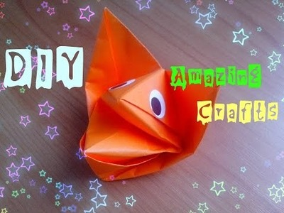 DIY How To Make Origami DOG. Toy For Kids. Amazing Craft Tutorial For Children And Beginners