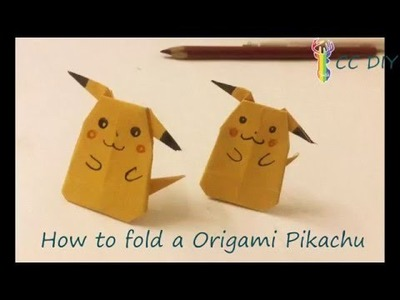 ● DIY IDEAS 4 ● Folding a Origami Pikachu ● DIY CRAFTS ●