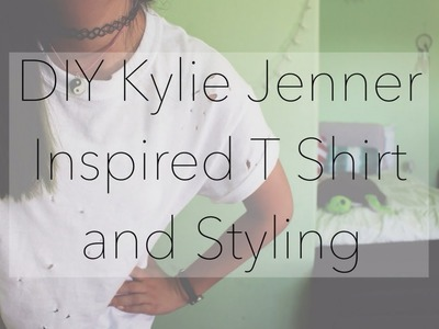 DIY Kylie Jenner Inspired Hole Shirt + 3 Ways to Style it