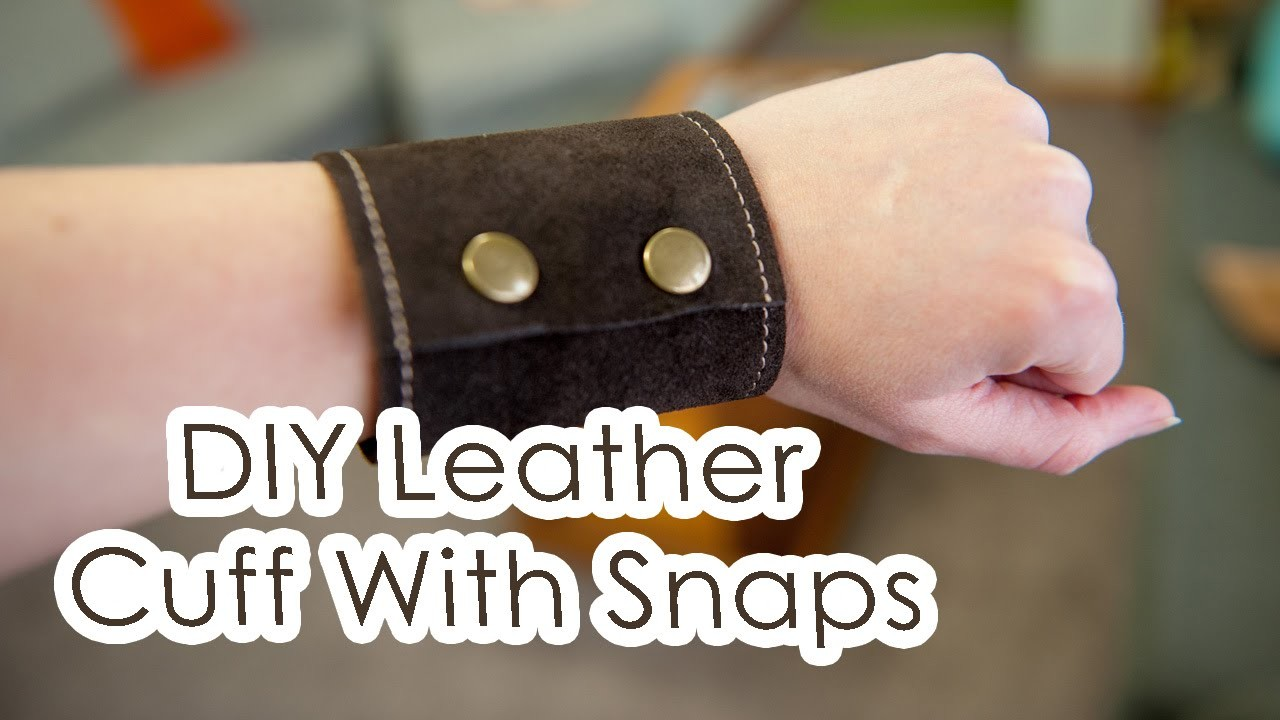 DIY leather cuff with snaps | Kris Kandel