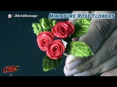 DIY Miniature Rose Flowers for Valentine's Rose Day | How to make | JK Arts 843