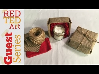 DIY Origami Gift Box   make this from Hessian or Cardboard with Miss Kristy H