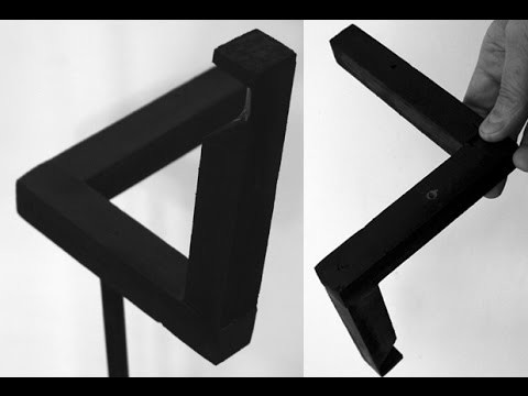 """DIY Penrose """"Impossible"""" Triangle - How To Build - Wood"""