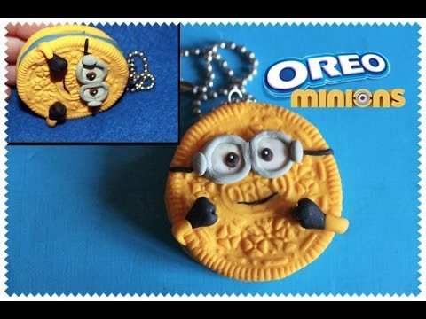 Diy Polymer clay Tutorial: OREO-MINION CHARM in Few Minutes!