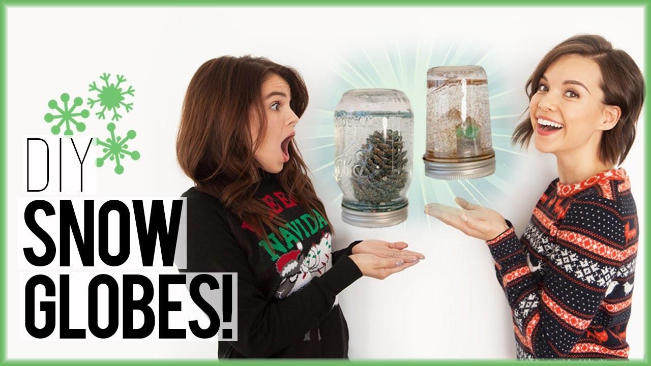 DIY Snow Globes from a Mason Jar ft. CarrieRad!. #DIYDecember Day 8
