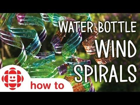 DIY Water Bottle Wind Spirals | Monkey Makes | Crafts For Kids