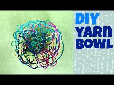 DIY Yarn Bowl Tutorial - Dollar Store Crafts