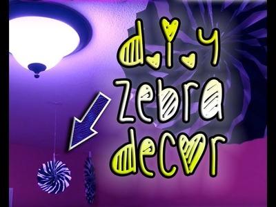 DIY: Zebra print room, the BEST hack on decorating with zebra print!