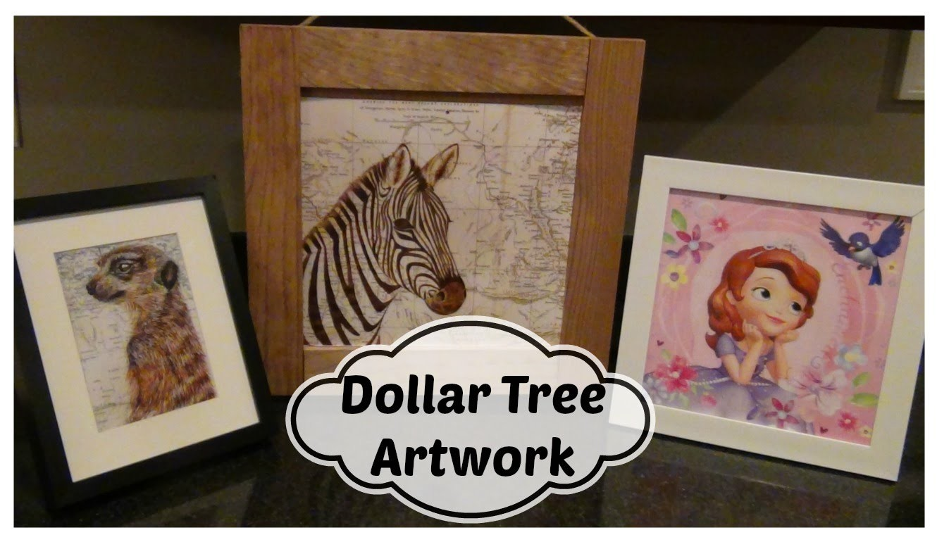 Dollar Store DIY:  $1.00 Artwork Using Dollar Tree Calendars!!