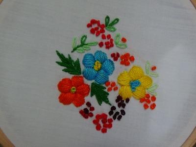 Hand Embroidery: Padded Satin Stitch