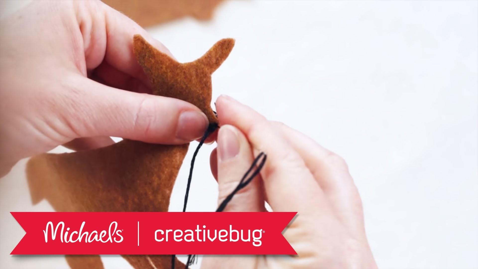 Hand Stitched Deer Ornament   Michaels