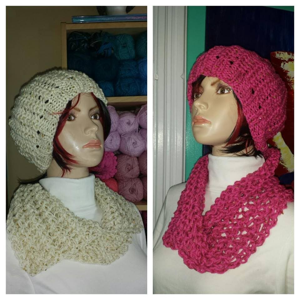 How to knit a scarf For the set with the hat
