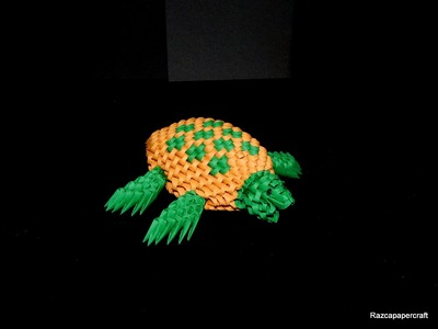 How to make 3d origami Turtle part1