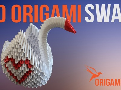 How to Make a 3D Origami Swan - Instructions